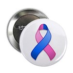 "Blue and Pink Awareness Ribbon 2.25"" Button (10 pa"