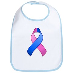 Blue and Pink Awareness Ribbon Bib