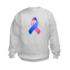 Blue and Pink Awareness Ribbon Sweatshirt