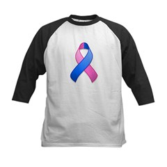 Blue and Pink Awareness Ribbon Tee