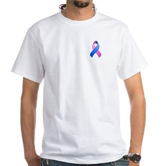 Blue and Pink Awareness Ribbon Shirt