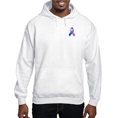 Blue and Pink Awareness Ribbon Hoodie