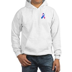 Blue and Pink Awareness Ribbon Hoodie
