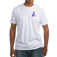Blue and Pink Awareness Ribbon Shirt