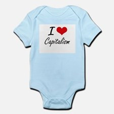 I love Capitalism Artistic Design Body Suit