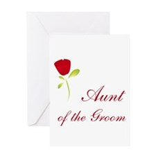 Red Groom's Aunt Greeting Card