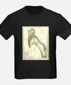 Vintage Map of The San Diego Bay (1857) T-Shirt