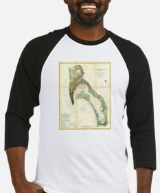 Vintage Map of The San Diego Bay ( Baseball Jersey