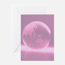 Pink Globe Greeting Card