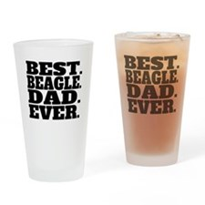 Best Beagle Dad Ever Drinking Glass