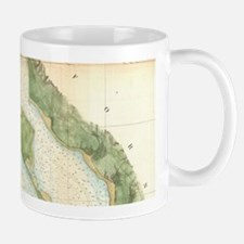 Vintage Map of The San Diego Bay (1857) Mugs