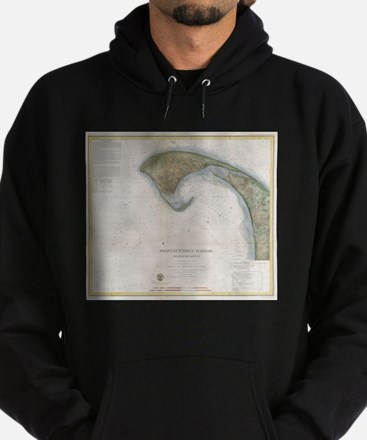Vintage Map of Provincetown Hoodie (dark)