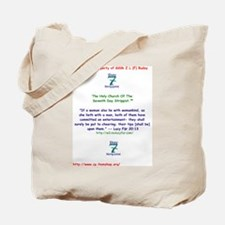 Reverend Lucy Fur Proclaims! Tote Bag