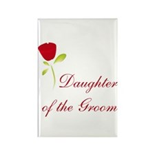 Red Groom's Daughter Rectangle Magnet