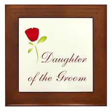 Red Groom's Daughter Framed Tile