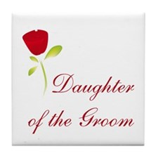Red Groom's Daughter Tile Coaster
