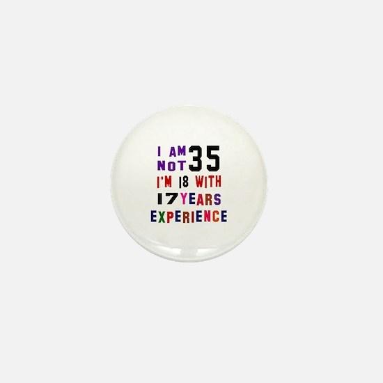35 Birthday Designs Mini Button