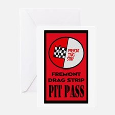 Fremont Drag Strip Pit Pass Greeting Cards