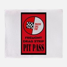 Fremont Drag Strip Pit Pass Throw Blanket