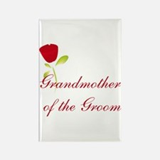 Red Groom's Grandmother Rectangle Magnet