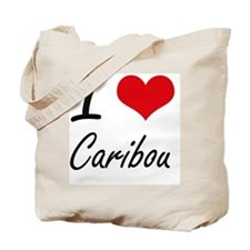 I love Caribou Artistic Design Tote Bag