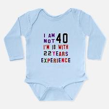 40 Birthday Designs Long Sleeve Infant Bodysuit