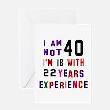 40 Birthday Designs Greeting Card