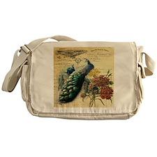 french botanical vintage peacock Messenger Bag