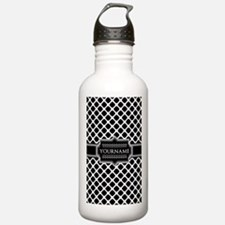 Personalized Quatrefoi Water Bottle