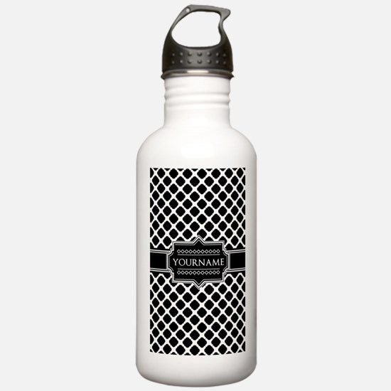 Personalized Quatrefoi Water Bottle