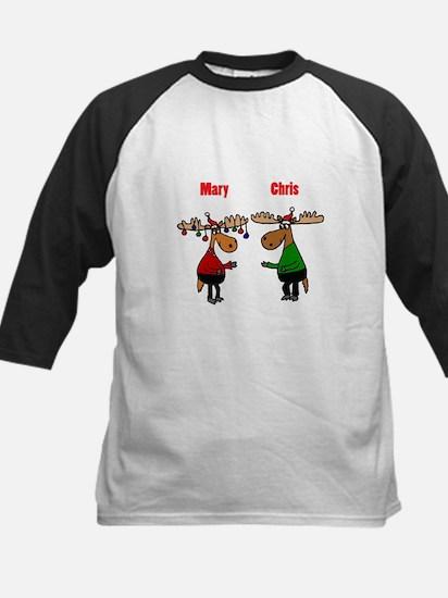 Funny Christmas Moose Baseball Jersey