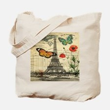 vintage paris eiffel tower Tote Bag