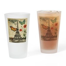 vintage paris eiffel tower Drinking Glass