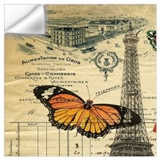 vintage paris eiffel tower Wall Decal