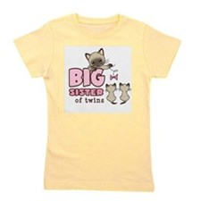 Cute Big sister of boy girl twins Girl's Tee