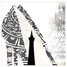 modern paris eiffel tower Poster