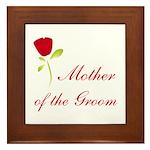 Red Groom's Mother Framed Tile
