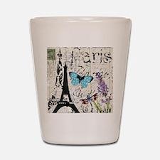 modern paris eiffel tower Shot Glass