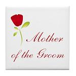 Red Groom's Mother Tile Coaster