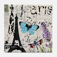 modern paris eiffel tower Tile Coaster