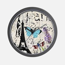 modern paris eiffel tower Wall Clock