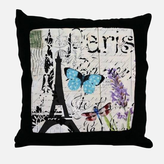 modern paris eiffel tower Throw Pillow