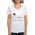 Red Groom's Mother Women's V-Neck T-Shirt