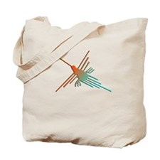 Colorful 3D Nazca Lines Hummingbird  Tote Bag