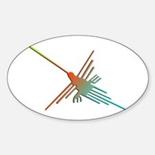 Colorful 3D Nazca Lines Hummingbird Decal
