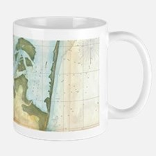Vintage Map of Cape Fear (1857) Mugs