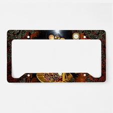 Steampunk, funny monkey License Plate Holder