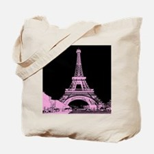 pink paris eiffel tower Tote Bag