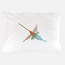 Colorful 3D Nazca Lines Hummingbird Pillow Case