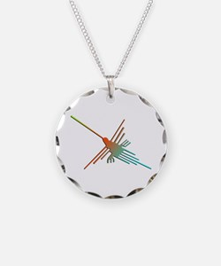 Colorful 3D Nazca Lines Humm Necklace